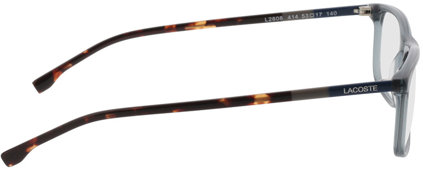 Picture of glasses model Lacoste L2808 414 53-17 in angle 90