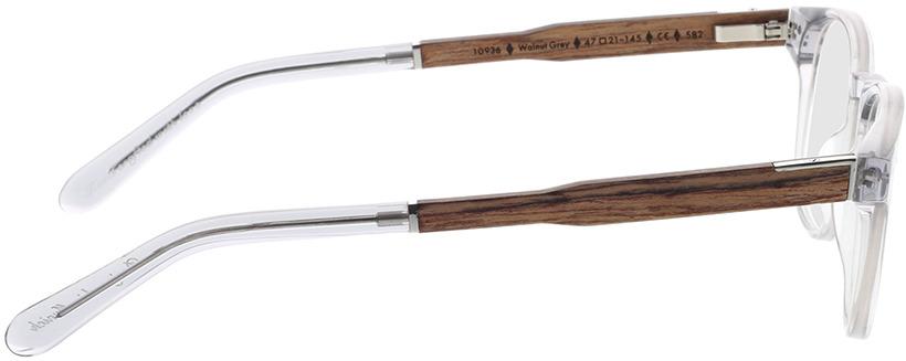 Picture of glasses model Wood Fellas Optical Bogenhausen Premium walnut/grey 47-21 in angle 90
