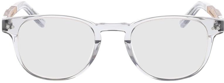 Picture of glasses model Wood Fellas Optical Bogenhausen Premium walnut/grey 47-21 in angle 0