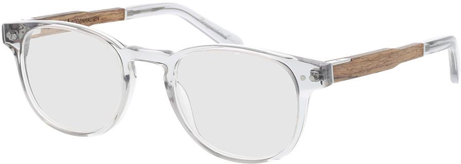 Picture of glasses model Wood Fellas Optical Bogenhausen Premium walnut/grey 47-21 in angle 330
