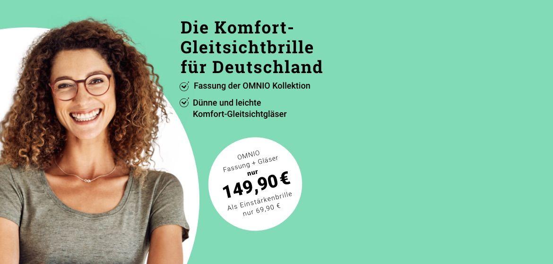 Komfort-Gleitsichtbrille für Deutschland