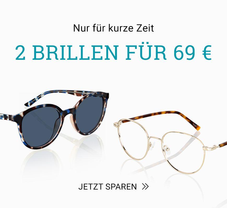 2 Brillen nur 69 €