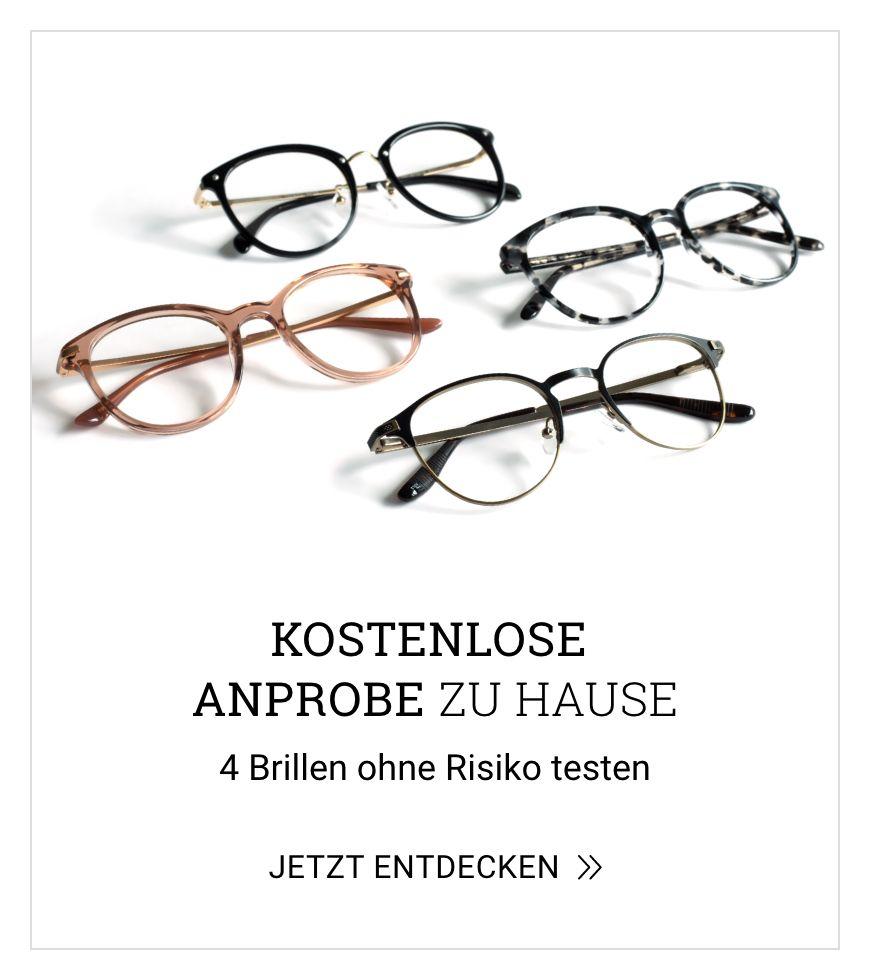 4 Brillen kostemlos zu Hause anprobieren