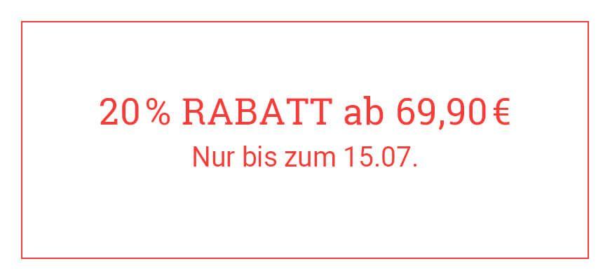 20 % Rabatt ab 69,90 €