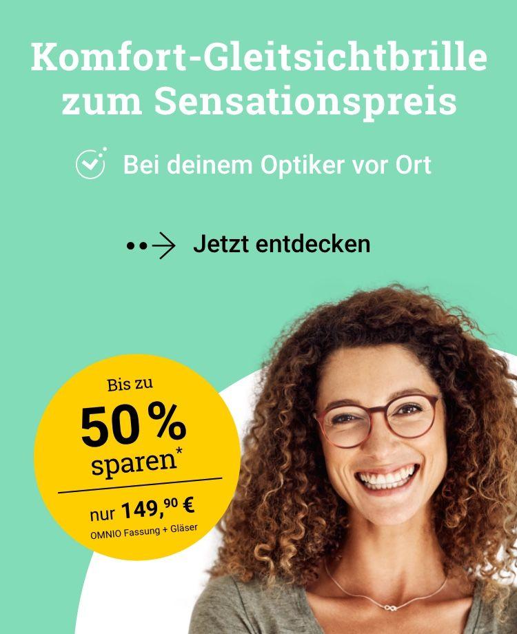 Komfort-Gleitsichtbrille für Deutschland – beim Partneroptiker vor Ort