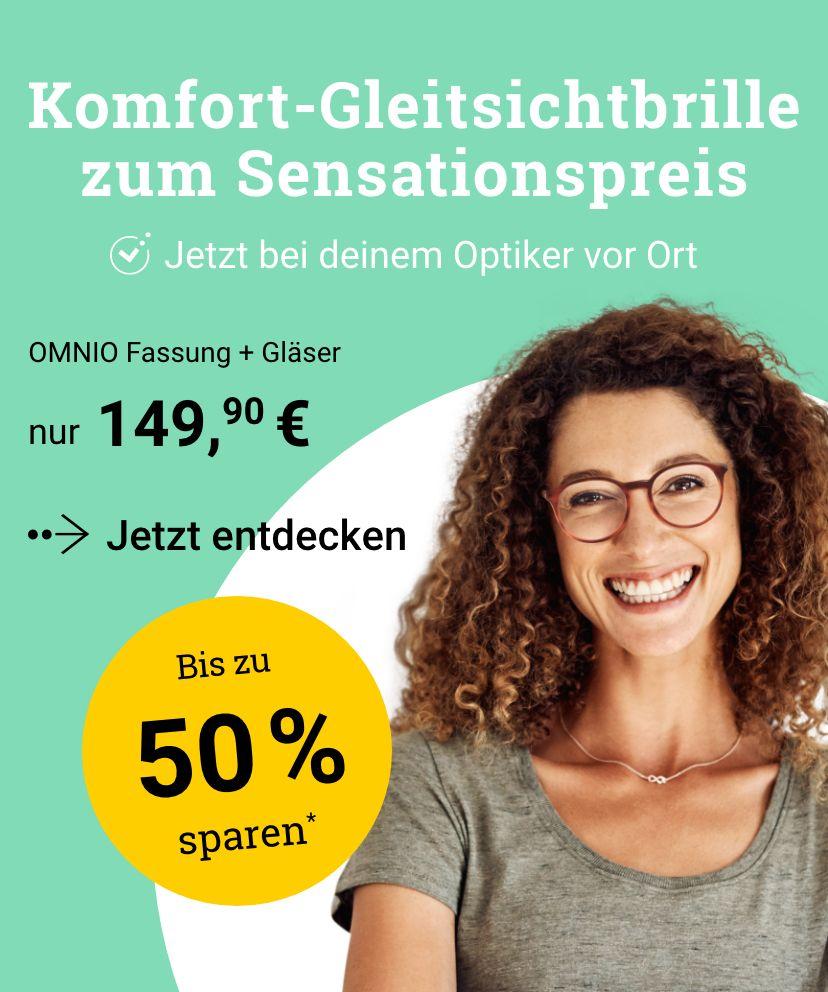 Komfort-Gleitsichtbrille nur 149,90 € – beim Partneroptiker vor Ort